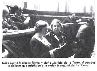 Resultado de imagen de maría lejárraga y Matilde de la Torre